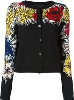 Moschino floral button down cardigan