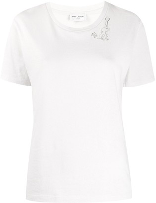 Saint Laurent guitar motif T-shirt