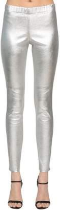 Yves Salomon High Waist Stretch Leather Pants