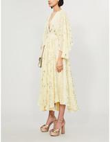 LoveShackFancy Solana star-print silk-crepe midi dress
