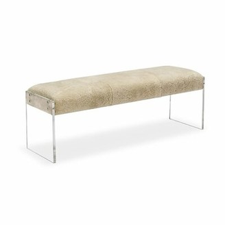 Interlude Aiden Leather Bench