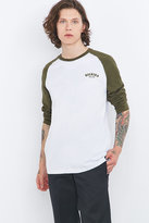 Dickies Olive And White Baseball Raglan Tee