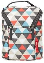Skip Hop Skip*Hop® Triangles Grab & Go Double Bottle Bag in Orange/Grey/Blue