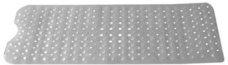 clear Online Extra Long Contour U Shape Front Plastic Bath Mat with Anti-Skid Backing,