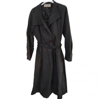 Gianfranco Ferre Blue Cotton Trench Coat for Women