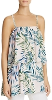 Olivaceous Palm Print Layered Top