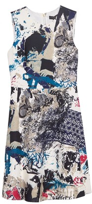 DKNY Patterned Faille Shift Dress