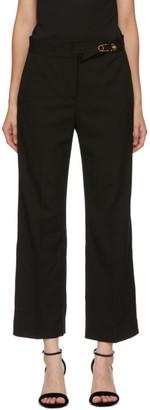 Versace Black Wool Flare Trousers