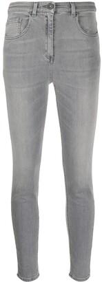 Elisabetta Franchi Logo Patch Denim Jeans