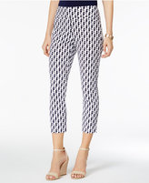 Charter Club Petite Cambridge Seahorse-Print Capri Pants, Only at Macy's