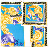 Versace Baroque Oceanic scarf - women - Silk - One Size
