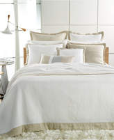 Hotel Collection Linen Natural Quilted Queen Coverlet Bedding