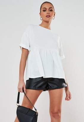 Missguided Petite White Smock T Shirt