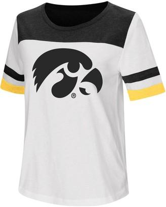 Colosseum Women's White Iowa Hawkeyes Show Me the Money T-Shirt