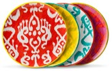Mudhut Ikat Melamine Dinner Plate Set of 4