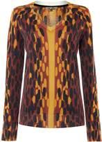 Biba Printed ombre v neck jumper
