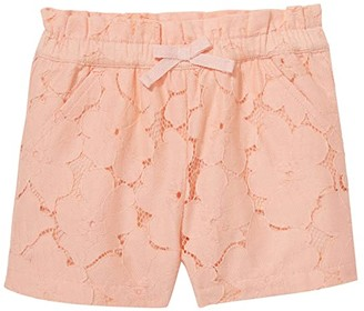 Janie and Jack Peach Lace Shorts (Toddler/Little Kids/Big Kids) (Orange) Girl's Shorts