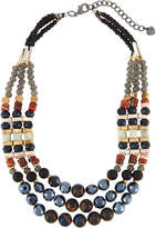 Nakamol Mixed Stone Triple-Layer Statement Necklace