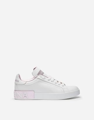 Dolce & Gabbana Nappa Leather Portofino Sneakers