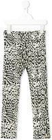 Roberto Cavalli leopard print leggings - kids - Cotton/Spandex/Elastane - 2 yrs
