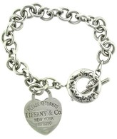 Tiffany & Co. & Co. Sterling Silver Return to Heart Toggle Bracelet
