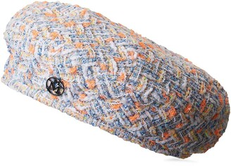 Maison Michel Flore boucle-tweed beret