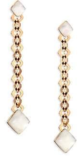 Mother of Pearl Vhernier Women's Pan Di Zucchero Sunflower Quartz, Mother-Of-Pearl & 18K Rose Gold Drop Earrings