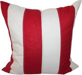 One Kings Lane Vintage Red & White Striped Flag Pillow