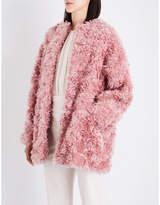 Stella McCartney Ladies Plush Luxe Eina Oversized Faux-Fur Coat