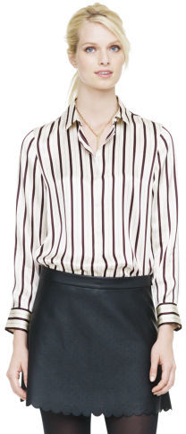 Club Monaco Remi Striped Silk Shirt