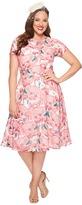 Unique Vintage Plus Size Chiffon Dress Women's Dress