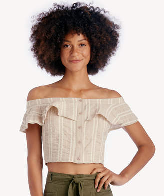 Sole Society Lost + Wander Women's Stella Crop Top In Color: Creme Size Large From