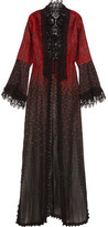 Elie Saab Crocheted Lace-trimmed Embroidered Cotton-blend Jacket - Black