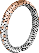 John Hardy Women's Dot 8MM Cuff in Sterling Silver and 18K Rose Gold