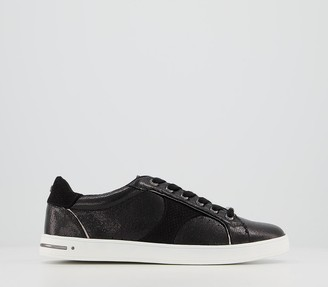 Office Force Feature Side Details Lace Up Trainers Black Mix