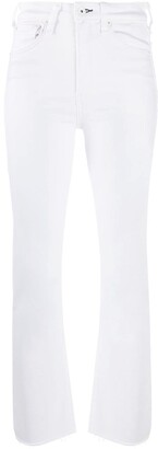 Rag & Bone Cropped High-Waisted Jeans