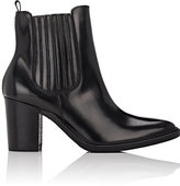 Barneys New York WOMEN'S LEATHER ANKLE BOOTS-BLACK SIZE 10