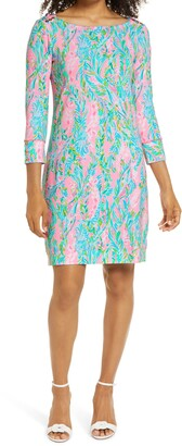 Lilly Pulitzer Sophie Unicorn of the Sea Print UPF 50+ Knit Dress