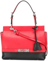 Moschino logo plaque tote - women - Leather - One Size