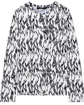 Derek Lam Printed Cotton-jersey Top