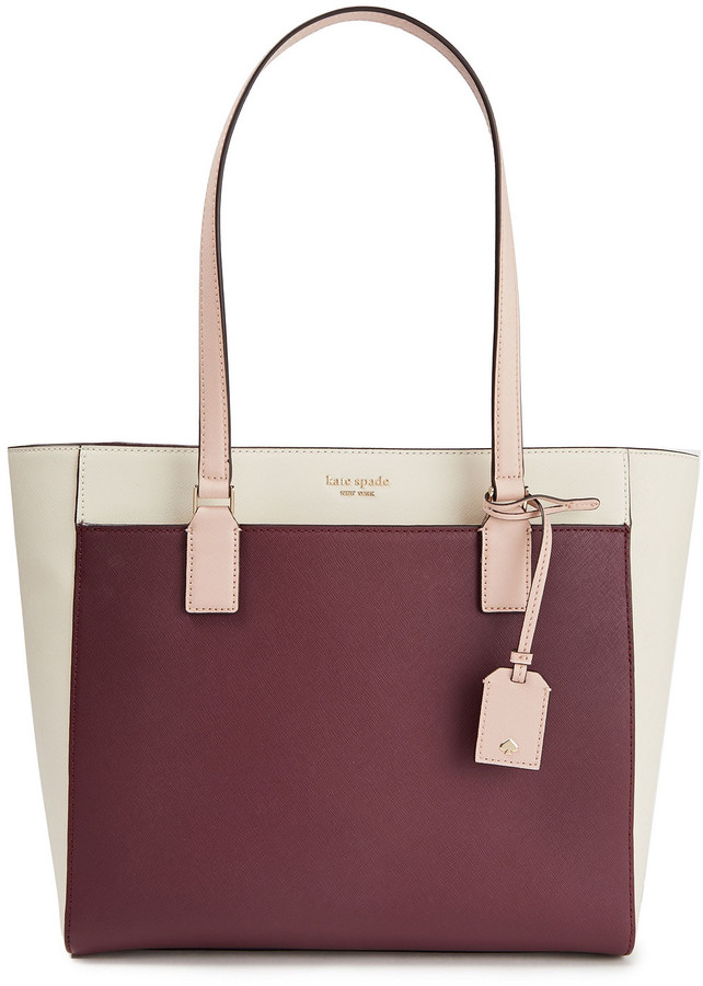 Kate Spade Color-block Textured-leather Tote