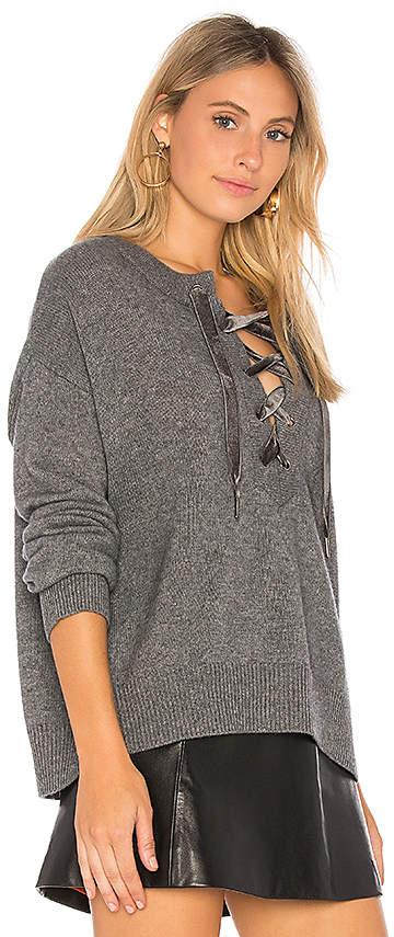 Rails Olivia Lace Up Sweater