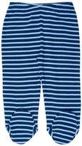 Jo-Jo JoJo Maman Bebe 2 Pack Footed Leggings (Baby) - Navy/Blue Stripe-0-3 Months
