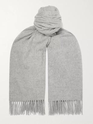 Acne Studios Oversized Fringed Melange Wool Scarf