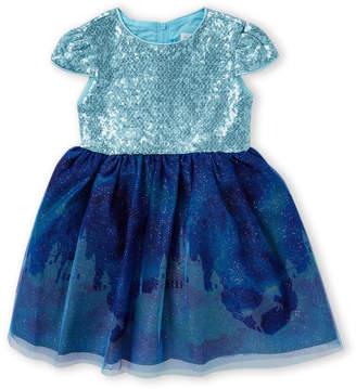Little Angels (Toddler Girls) Sequin Castle A-Line Dress