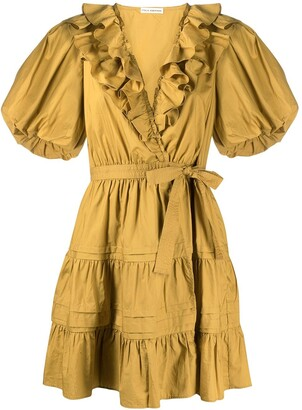 Ulla Johnson Maude ruffled neckline mini dress