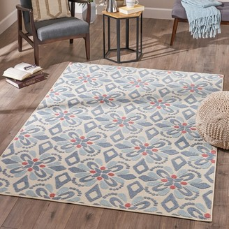 3x5 Ladole Rugs FWR12401 Boston Collection Contemporary Floral Pattern Area Rug Carpet