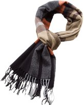 Wenseny Mens Scarves Wrap Tartan Winter Warm Multicored Fashion Cashmere Scarf