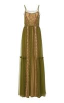 Alberta Ferretti Silk Lace Gown