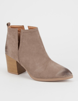 Qupid Side Slit Womens Booties